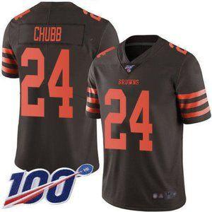 Cleveland Browns Nick Chubb 100th Season Jersey